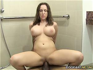 Kiera King takes bbc ass fucking in the douche