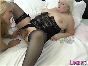 lesbo grandmother licks cooch