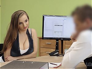 LOAN4K. sex-positive tramp with thick tits pays with orgy for help with car