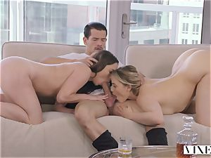 VIXEN kinky secretary Can't Hold Back Anymore In unbelievable 3some