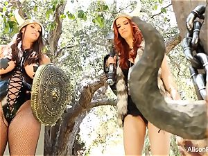 Alison Tyler and Jayden Cole are girl-on-girl vikings