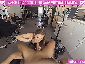 VRBangers.com Hairdresser Ella poked rock hard and facial cumshot