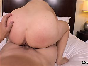 meaty all-natural baps milf gets hardcore drilling