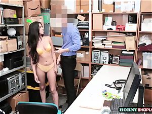 super hot Latina Sophia Leone gets her cunny boinked by officers phat trunk so stiff