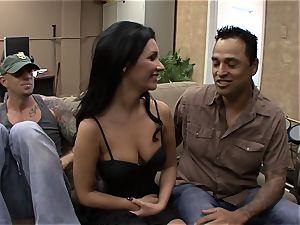 Darcy Tyler is jammed as her spouse films it