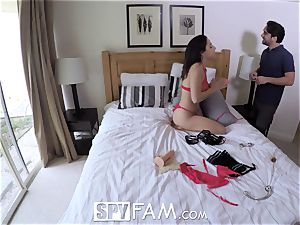 SpyFam Step father humps step daughter-in-law Abella Danger
