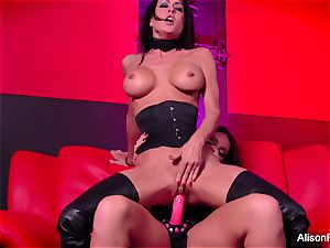 crimson apartment and scorching strap-on activity