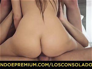 LOS CONSOLADORES - uber-cute honey bare rubdown and three way