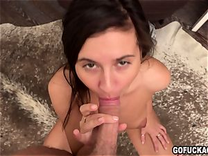 GOFUCKAGIRL Vika gets her young cootchie crammed with jizz