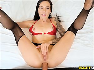 Marley Brinx pounded in her brown-eye