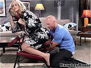 mummy Simone massage-fucked by Johnny Sins