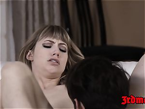 sloppy ash-blonde Ivy Wolfe filled up with phat chisel after oral job