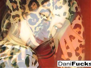 Dani Daniels thumbs her cock-squeezing humid vagina
