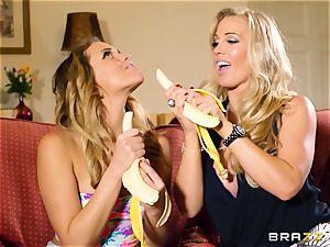 Rebecca More displays Mia Malkova how to deep-throat prick