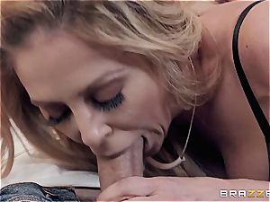 bootylicious Charlie DeVille checks her stepson's cooter fumbling abilities
