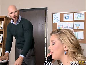 cougar chief Cherie Deville gets shafted by a hefty dicked employee