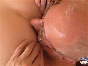 elder young porno granddad loves to shag youthful gals vag
