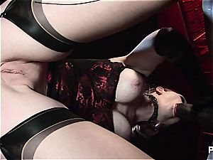 Her fresh marionette seems to satiate her