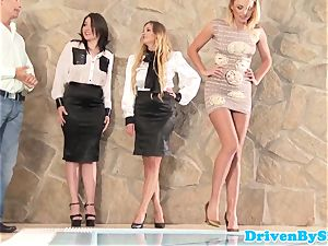erotic stunner analized during 4some session