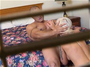 crazy Nina Elle smashes her boy at the motel