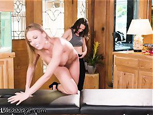 AllGirlMassage Britney Amber cums