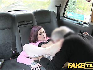 fake cab american redheads tight rear entrance boned