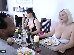 AGEDLOVE grandmother lush Lacey Starr encountered her mates