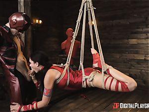 nasty superhero intercourse with Ariana Marie and Xander Corvus