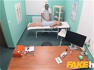 fake medical center prompt fuckin' gives platinum-blonde fat melons brit