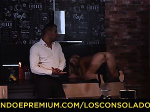 LOS CONSOLADORES - Hungarian blonde gets screwed point of view