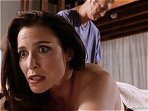 gorgeous Mimi Rogers gets her whole figure pawed