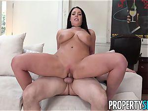 PropertySex big-boobed honey Angela white boinks the Landlord