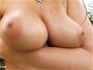 Monica with ample appetizing bumpers porked stiff xxx fashion on