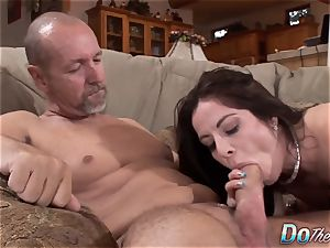 Karas hubby sees her takes massive beef whistle