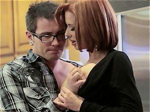 Mean mom Veronica Avluv plumbs her daughter's guy