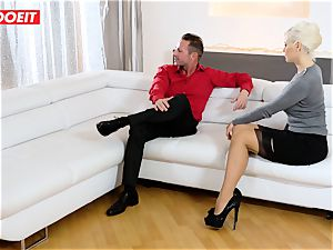 mummy and Stepdaughter take excellent care of their Step daddy