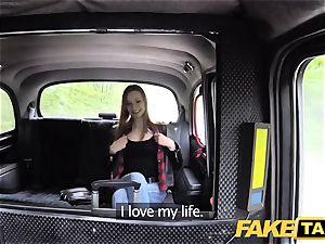 faux taxi slender redhead enjoys tough fucky-fucky