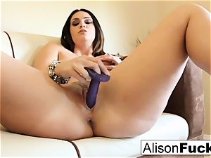 meaty boobed bombshell Alison Tyler plays with her cootchie