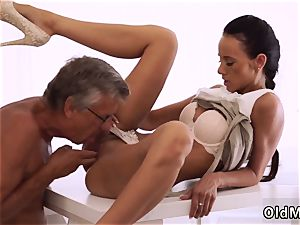 elder grannie young and mommy lecturer soles finally she s got her manager jizz-shotgun