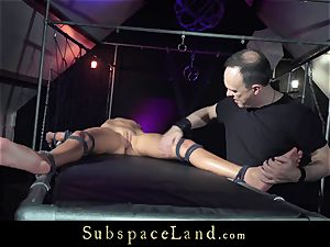 torrid blonde bound up and instructed to be a good hookup sub