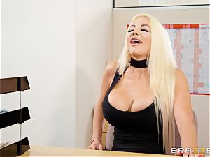 Nicolette Shea gets her concentration tested in this steamy interview