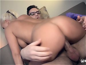 bums BESUCH - blondie German pornography star bangs super-naughty admirer