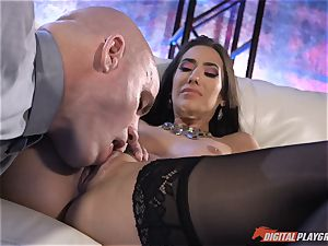 nutting for insane Eva Lovia after being wedged nutsack deep
