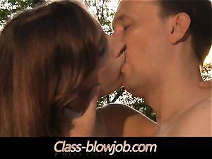 Tina Blade and Beata Undine dual inhaling