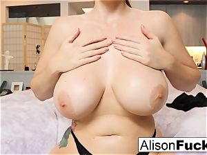 Stacked for days Alison Tyler helps the viewer spunk