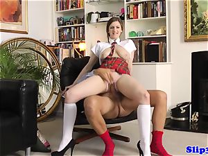 tempting student riding oldmans beef whistle