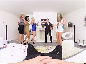 VRBangers gang drill Merry XXXmas and One man-meat Part 2