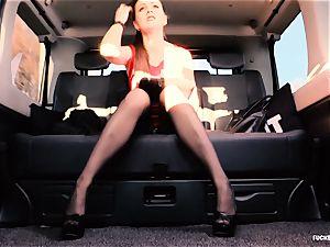 plowed IN TRAFFIC - british Tina Kay ravaged in the car