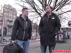 large Amsterdam hooker cockriding tourist