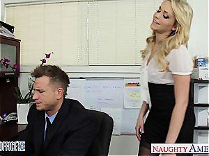 gorgeous office babe Mia Malkova humping
